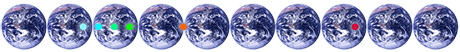 10 Earths CO2 - Earths fotos: NASA - Website CarbonOffset